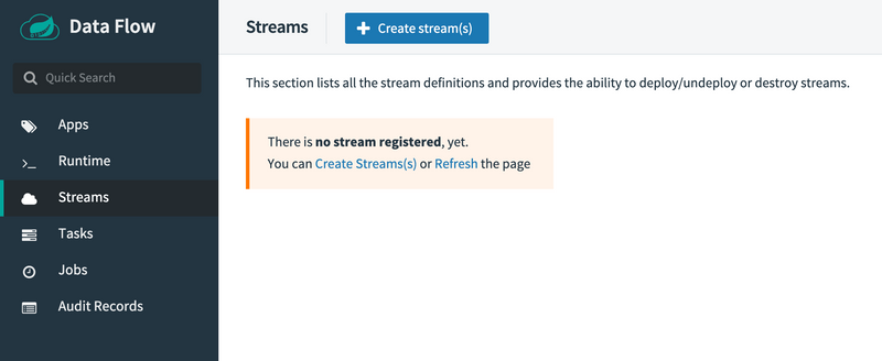 Create streams