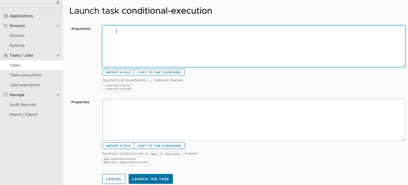 Conditional Execution Task Definition Launch